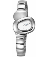 Stone  28mm Unusual Steel Ladies Quartz Watch