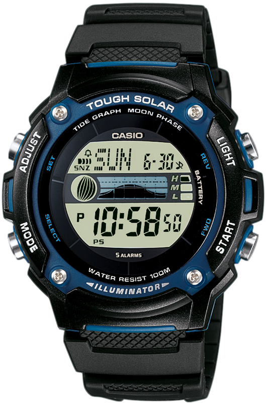 how to read casio tide graph