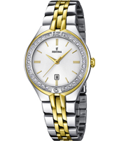 32mm Elegant Bicolor Ladies Quartz Watch