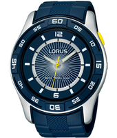 47mm Sporty Blue Resin Gents Watch
