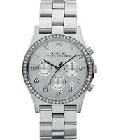 Henry 40mm Crono argento donna con data