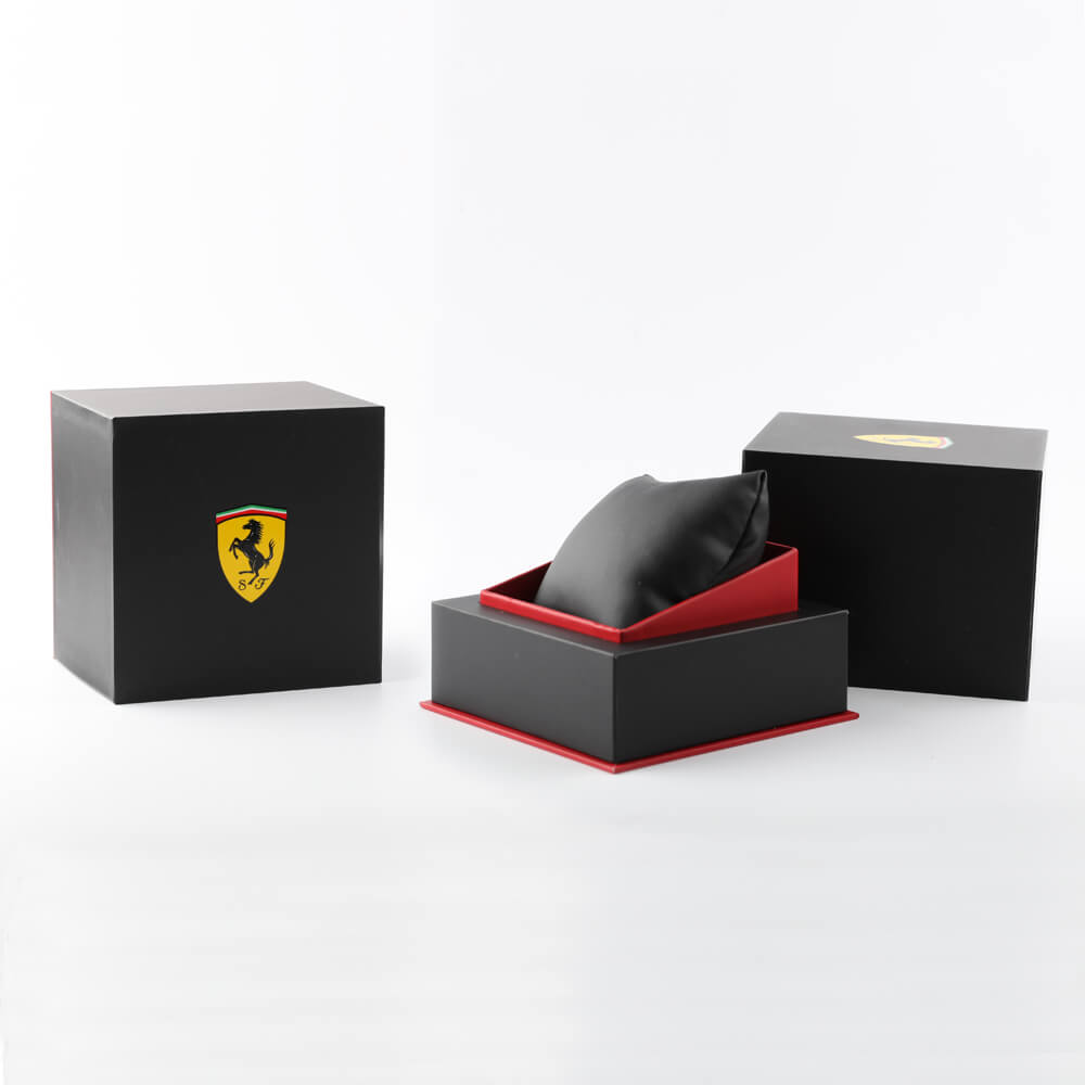 Gunmetal gents watch with day-date Collezione Primavera / Estate Scuderia Ferrari