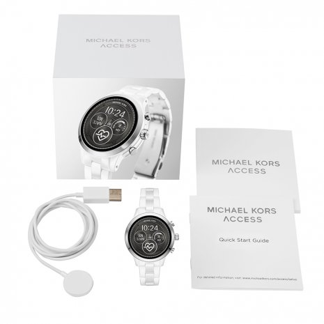 Touchscreen Smartwatch with Ceramic Bracelet - Gen4 Collezione Autunno / Inverno Michael Kors